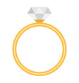 diamond ring flat icon valentines day vector image
