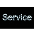Diamond word service vector image