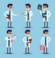 doctor chemist pharmacist surgeon man cartoon vector image vector image