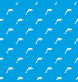 dolphin pattern seamless blue vector image vector image