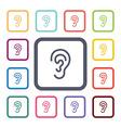 ear flat icons set vector image vector image