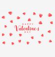 elegant hearts pattern valentines day background vector image vector image