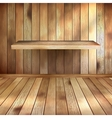 Empty interior with wood shelf EPS 10 vector image