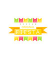 Fiesta logo original design colorful label with vector image