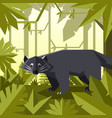 flat geometric jungle background with binturong vector image vector image