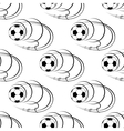 Flying soccer balls seamless pattern vector image vector image