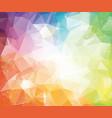 geometric colorful polygonal background molecule vector image vector image