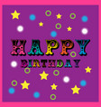 happy birthday party background vector image vector image