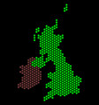 honeycomb great britain and ireland map vector image vector image