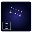 icons with Gemini zodiac sign and constellation vector image