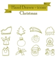 Illuetration of Christmas set icons vector image vector image