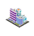 isometric modern buildings vector image vector image