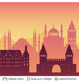istanbul famous city scape vector image vector image