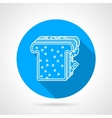 Line icon for sandwich vector image
