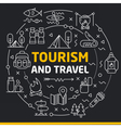 lines icons circle tourism and travel vector image