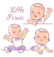 Little baby boy set vector image