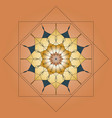 mandala round ornament element for design on vector image vector image
