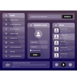 modern purple mobile user interface design vector image vector image