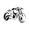 Motorbike on white background vector image vector image
