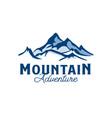 mountain ice logo template logo vector image
