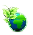 Natural blue World with green leaves and vector image vector image