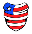 neckerchief in usa flag colors icon cartoon vector image