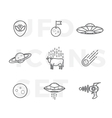 outline style abstract ufo or alien icons vector image vector image