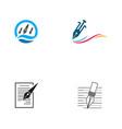 pen icon template vector image vector image