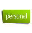 personal square paper sign isolated on white vector image vector image