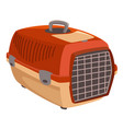 pet carrier small dog or cat kennel vector image