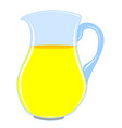 pitcher with drink vector image