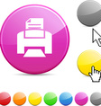 Print glossy button vector image vector image