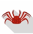 Red Alaska crab icon flat style vector image vector image