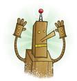 robot panic cartoon character vector image