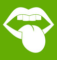 rock emblem icon green vector image vector image