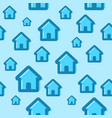 seamless pattern with house icons vector image