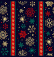 seamless ribbon with christmas snowflake pattern vector image vector image