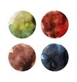 set colorful watercolor circles vector image