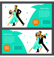 set of flares with happy young dancers vector image vector image