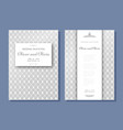 set of wedding invitation templates cover design vector image vector image