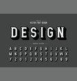 shadow font and alphabet writing style typeface vector image vector image