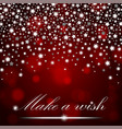 silver shining falling stars on red ambient vector image vector image