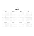 Simple modern calendar 2017 in German vector image