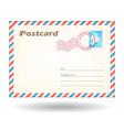 simple postcard vector image