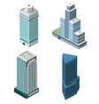 skyscrapers offices set vector image