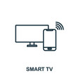 smart tv outline icon creative design from smart vector image