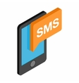 Smartphone smsisometric 3d icon vector image vector image