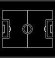 soccer field white color path icon vector image vector image