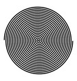spiral icon black color flat style simple image vector image