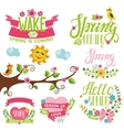 spring time decor tree vector image